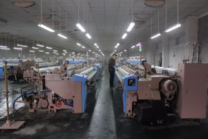 190cm Cotton or Polyester Fabric Weaving Loom Air Jet Machine with Cam Shedding pictures & photos