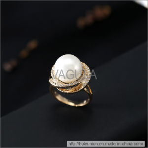 VAGULA Fashion Pearl Zircon Wedding Ring (Hlr14172) pictures & photos