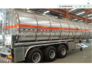 3 Axle Shiny Aluminum Alloy Tank Trailer