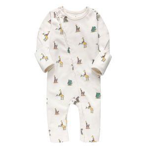 Hot Selling Printed Animal Long Sleeve Baby Onesie pictures & photos