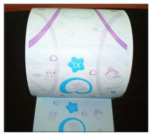 Diapers Raw Material Printed Cartoon PE Film Supplier China (LD-05) pictures & photos
