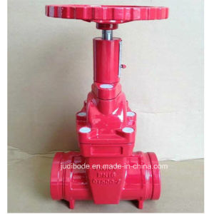 Non Rising Stem Groove End Resilient Seated Gate Valve pictures & photos