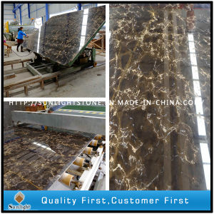 Cheap Black Golden Flower Marble Slabs for Countertops/Worktops/Tiles pictures & photos
