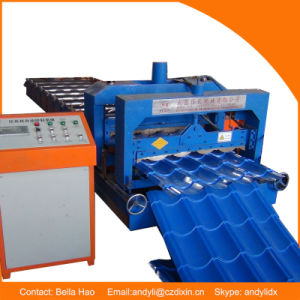 Dx Steel Color Glazed Tile Profile Rolling Forming Machine pictures & photos