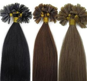 Pre-Bonded U Tip Human Hair Extensions pictures & photos