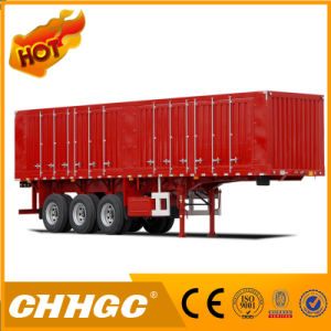 Chhgc 3 Axles Van Type Coal Carrying Semi Trailer pictures & photos