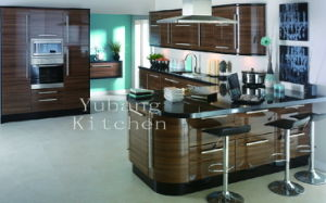 Wood Veneered Kitchen Cabinet (#M2012-26) pictures & photos