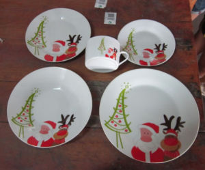 20PCS~30PCS Tableware High White Porcelain Dinnerware,