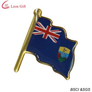 Custom Brass Printed UK Flag Lapel Pin (LM1018) pictures & photos