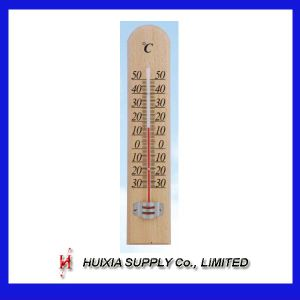 Wood Wooden Thermometer (HXM-W037)