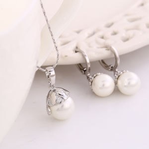 Hot Sale Xuping Newest Jewelry Pearl Set (61908) pictures & photos