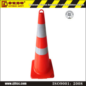"36"" Fluorescent Orange PVC Road Cone with Round Handle on The Top (CC-A91) pictures & photos"