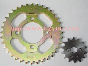 Yog Motorcycle Spare Parts Sprockets Set Cub Dy Wave Chain Kit Complete Front Rear Sprocket pictures & photos