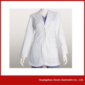 Custom Hospital White Color Nursing Uniforms (H1) pictures & photos
