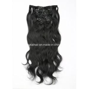 Body Wave Clip Human Hair Extensions