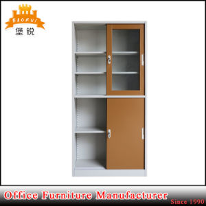 Durable Sliding Kd Glass Door Storage Metal Cabinet pictures & photos