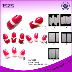 Manicure Nail Art French Tips Form Fringe Guides DIY Stencil Sticker