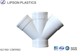 White Slant Cross - PVC Pipe Fittings for Drainage pictures & photos