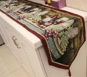 Country-Style Table Runner Decorative Cotton &Linen Table Flag (DTR-03) pictures & photos