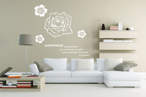 Rose PVC Wall Sticker (TP-148)