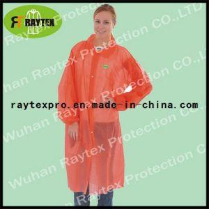 Disposable Nonwoven/Plastic PP Lab Coat