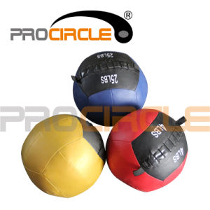 Gym Equipment Soft Leather Wall Ball (PC-MB1109) pictures & photos