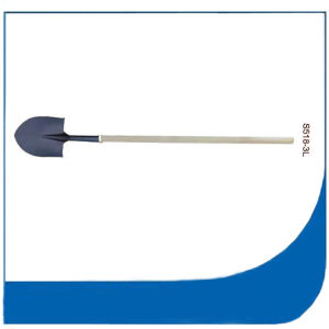 S518 Long Socket Steel Shovel with Long Wooden Handle pictures & photos