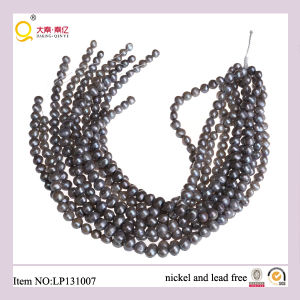 9-10mm Gray Potato Shape Lose Pearl Strings pictures & photos