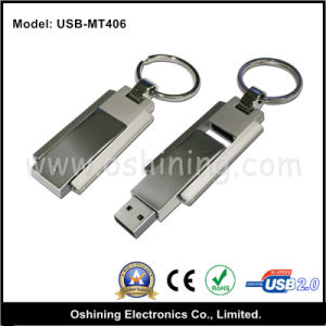 Free Logo Reversal Metal USB Drive with Keychain (USB-MT406) pictures & photos