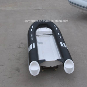 Liya 4.2m Boat Fiberglass Hull PVC Rib Boat (pontoon) China Sport Yacht for Sale pictures & photos