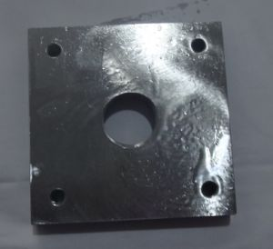 Hot Forging CNC Machining Carbon Steel Material Thread Hole Square Flange pictures & photos