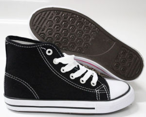 Classic Style High-Top Canvas Shoes for Children (SNC-240014) pictures & photos