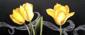 Oil Painting of Decorative Flowers-12 pictures & photos