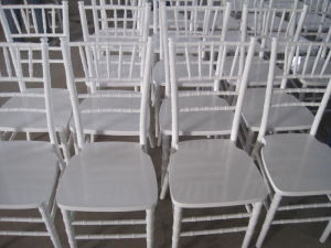 White Wooden Chiavari Tiffany Chair for Wedding pictures & photos