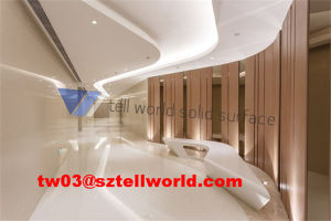 Tw LED Lighted Office Desk Furntiure Office Reception Desk with SGS pictures & photos