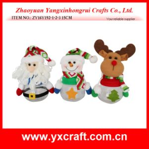 Christmas Decoration (ZY16Y192-1-2-3 15CM) Christmas Soy Jar pictures & photos