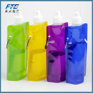 Custom Fold up Water Bottle Drinking Bag Foldable Water Bottle pictures & photos