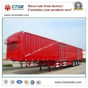 14.6 Meters 3-Axle Gooseneck Box/Van Type Semi Trailer
