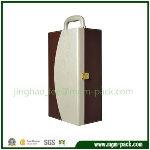 Brown Hot Sale Leather Shipping Gift Wine Box pictures & photos