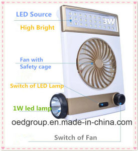 Solar Energy Emergency LED Laptop Lights Lamp with Fan pictures & photos