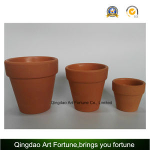Outdoor-Natural Candle Holder--Clay Ceramic Pot with Bulge Shape pictures & photos
