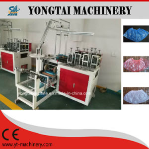Automatic PE and CPE Plastic Disposable Shoe Cover Making Machine pictures & photos