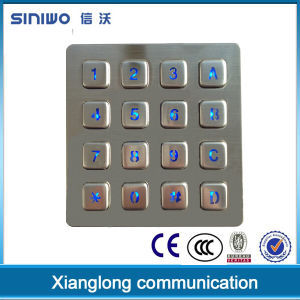 16 Metal Keys General Keypad/Metal Keypad/Backlit Keypad/Numeric Keypad for Rugged Industrial Area