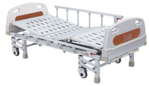 Three Cranks Manual Hospital Bed (SK-MB102B) pictures & photos