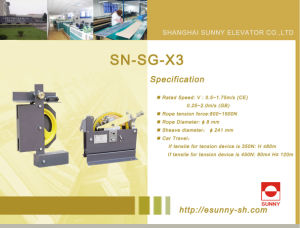 Speed Governor for Elevator Safety System (SN-SG-X3) pictures & photos