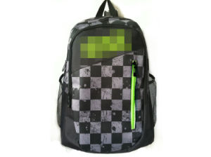 Backpack Students Backpack School Bag Black and White Square