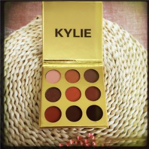 Kylie Kyshadow Pressed Powder Eyeshadow Palette Mini Size 9 Colors with Golden Package pictures & photos