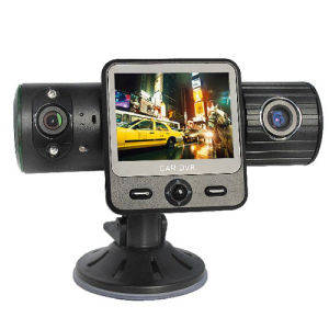 5MP Dual Lens Car DVR Car Black Box HD with G-Sensor and GPS Drive Route Record pictures & photos