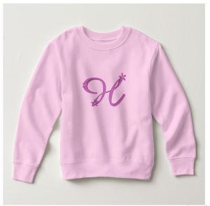 Pink H Toddler Fleece Sweatshirt pictures & photos