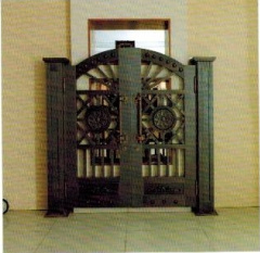 Inexpensive Stylish Steel Security Entrance Copper Door pictures & photos